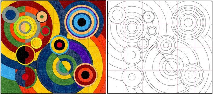 delaunay mural    http://www.artprojectsforkids.org/2010/02/robery-delaunay-mural.html