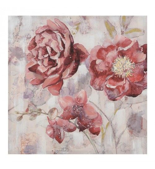 CANVAS OIL PAINTING 'RED FLOWERS' 70X70