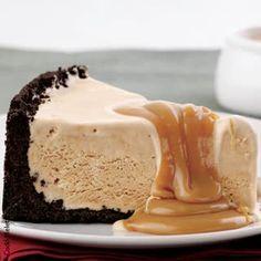 Torta de cafe com sorvete de creme