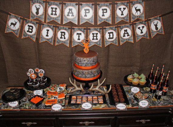 Camo Boy Deer Hunting Birthday party decorations deer hunting  realtree birthday hunt party by CupcakeExpress #huntingdiy