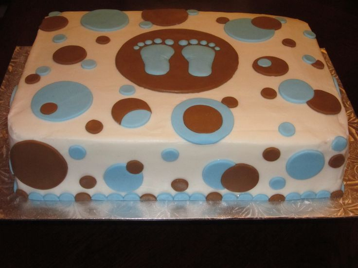 Attractive Boy Baby Shower Cake(Blue/Green Colors)