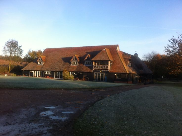 The golf club on a frosty morning