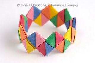 Paper bracelet. Great photos and instructions.