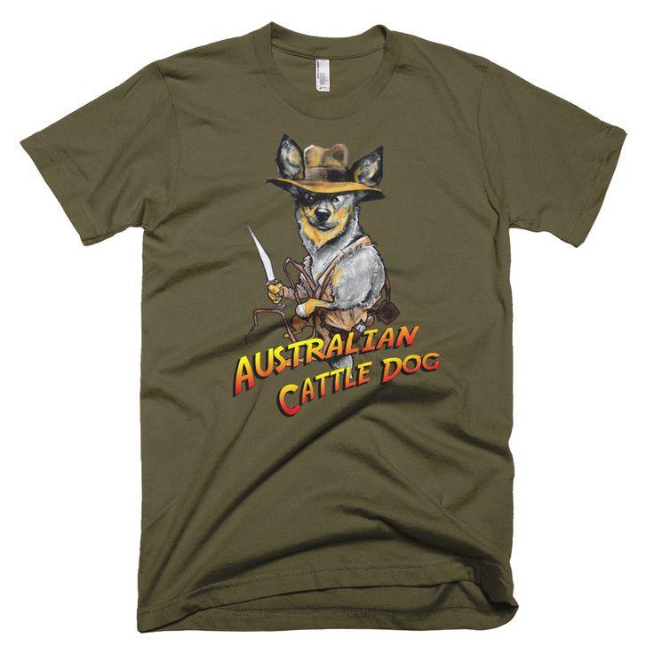 Indiana Jones Australian Cattle Dog Unisex T-Shirt