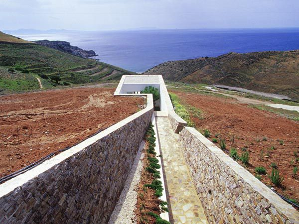A beautiful earth-sheltered home in the greek islands