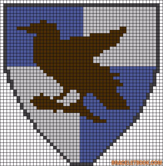 Ravenclaw House Harry Potter perler bead pattern