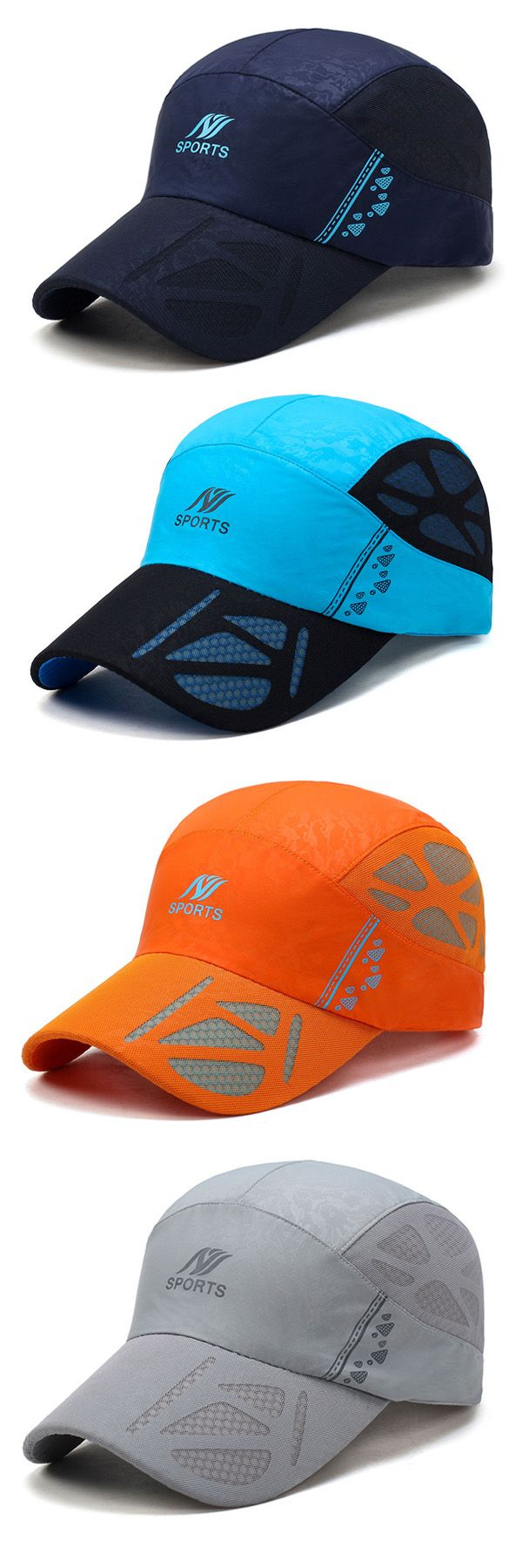 $8.68 Ultra-thin Breathable Quick-drying Mesh Baseball Cap, Outdoor Casual Carved Net Hat,Sport Cap For Men,Quick-drying Outdoor Cap