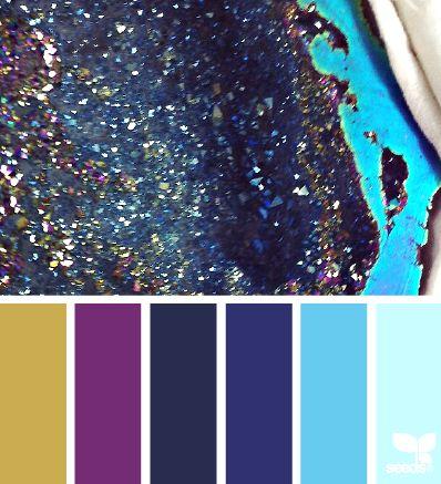 Mineral Sparkle - design-seeds.com/index.php/home/entry/mineral-sparkle1 color combination, color palettes, color scheme, color inspiration, visual communication.
