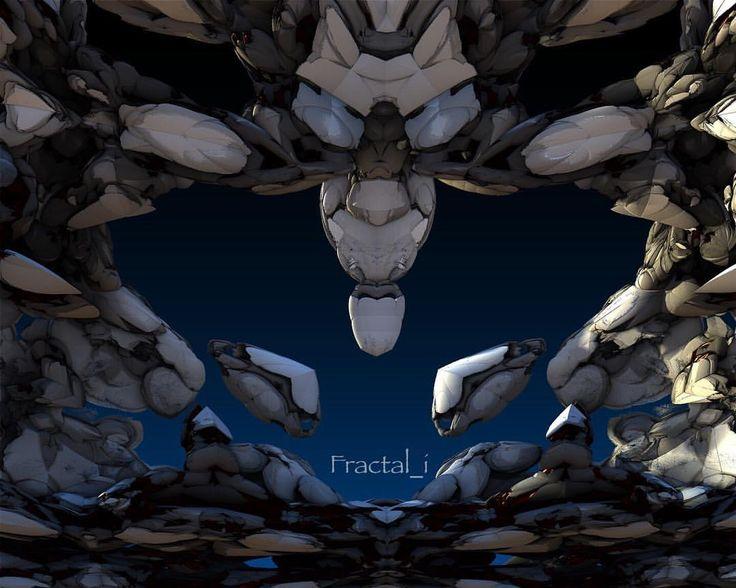 いいね!25件、コメント1件 ― Fractal iさん(@fractali)のInstagramアカウント: 「White rabbits. What can you see? I saw two white rabbits in this one and another alien/monster face…」