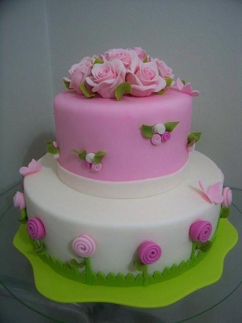 Pink Flowers: Pink Flower, Birthday Parties, Pretty Cakes, Decor Cakes, Flower Cakes, Amazing Cakes, Cakes Decor, Cute Cakes, Fondant Cakes