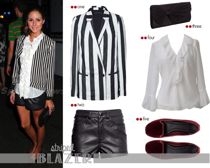 Get the look - Olivia Palermo: Olivia Palermo wearing striped blazer | http://getthelookoliviapalermo.blogspot.com.es/