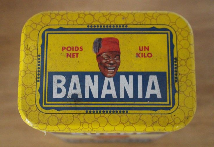 Vintage Banania tin by SAMANTHATENN on Etsy