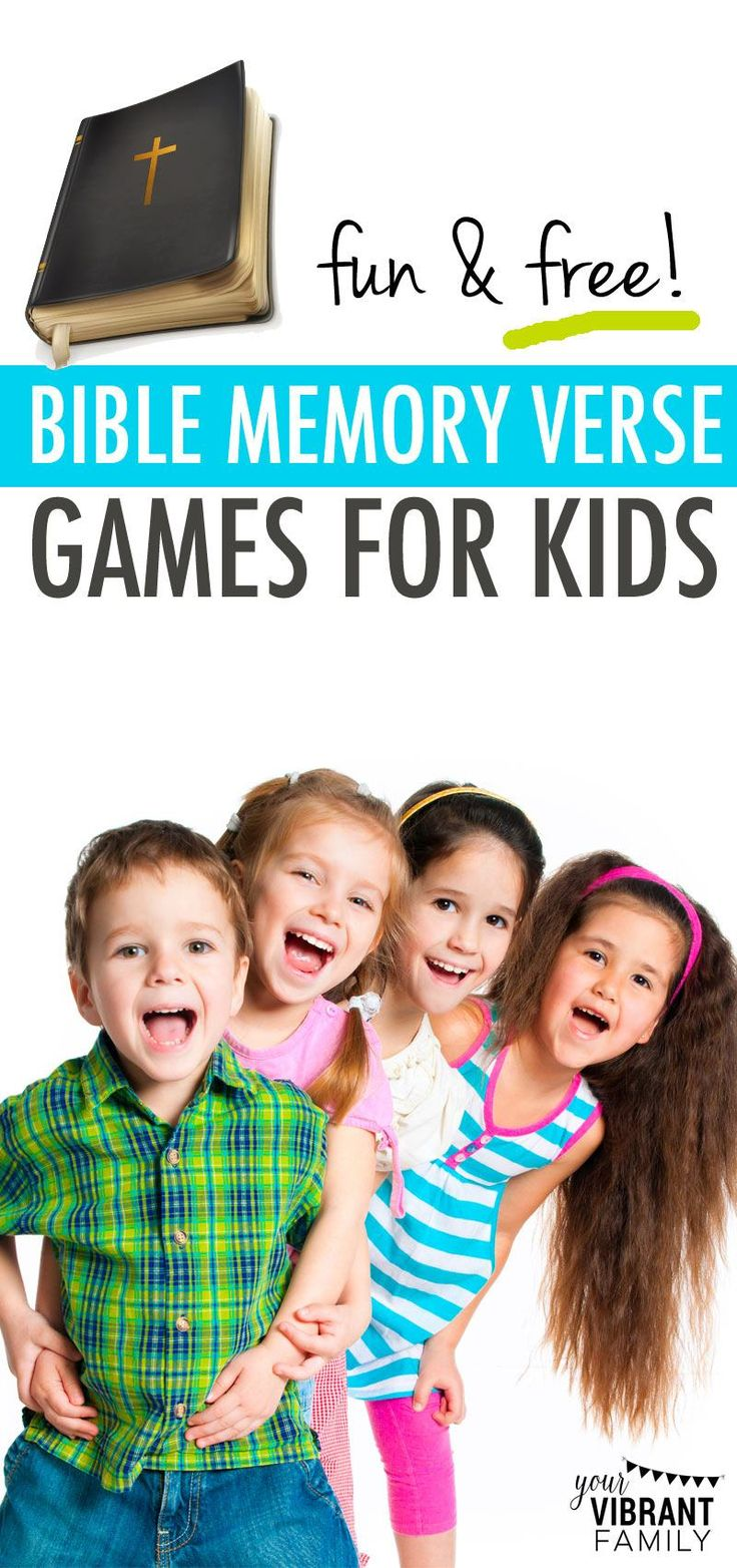 Bible memory for kids can be fun! Check out these easy 21 Bible memory verse games, plus engaging Bible memory songs and craft ideas to help your kids hide scripture in their heart! Discover how quickly (and joyfully) you can add bible memorization to your family's everyday life.