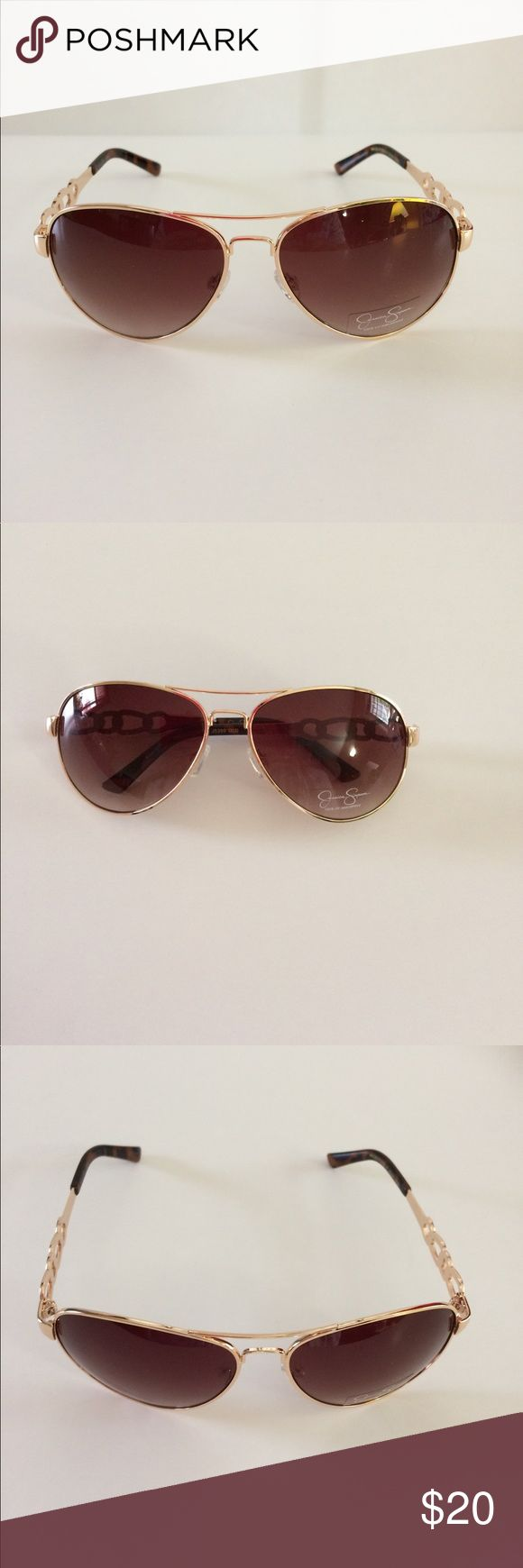 🆕 Jessica Simpson Aviator Chain-link Sunglasses. 🌟Jessica Simpson Aviator Chain-link Design Sunglasses.   Gradient lens.   NO CASE  100% UV Protection   Offers welcome   Thanks for stopping by. Jessica Simpson Accessories Sunglasses