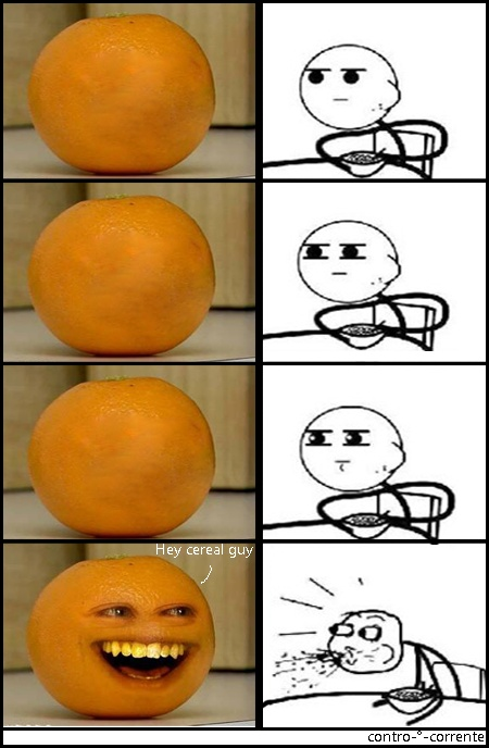Guess who it is it's the annoying orange i can't even watch one of he's videos from how annoying he is!