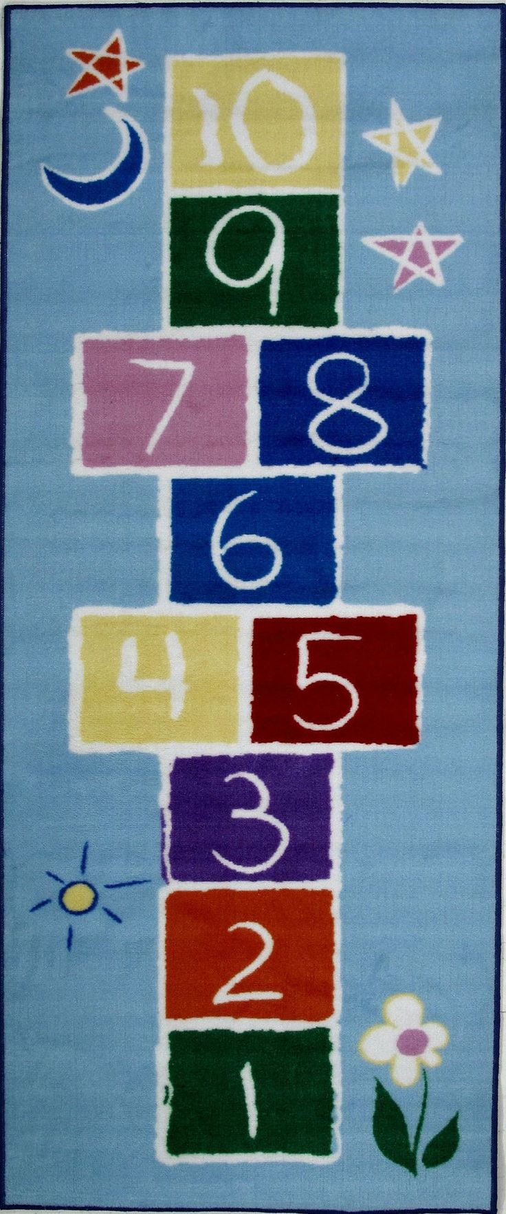 Fun Time Primary Hopscotch Area Rug