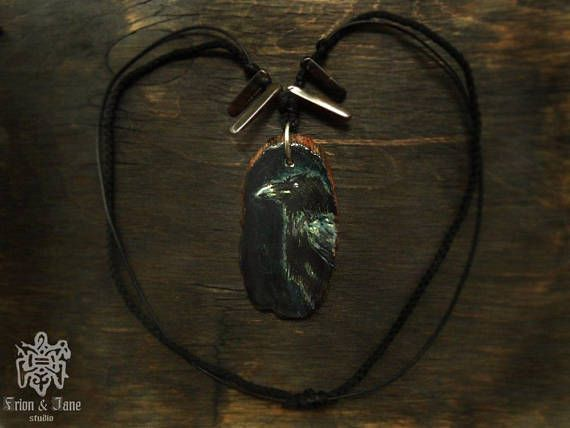 Hey, I found this really awesome Etsy listing at https://www.etsy.com/listing/533355554/raven-pendant-raven-necklace-norse