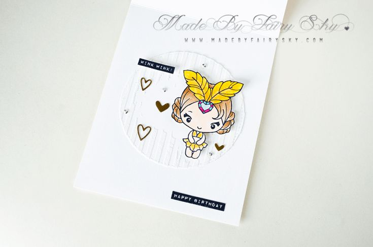·•●★ Made By Fairy Sky ★●•·  www.madebyfairysky.com/blog  #mbfairysky #mbfscardmaking