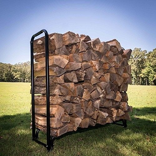 Outdoors-4-ft-Firewood-Wood-Log-Rack-Lumber-Storage-Holder-Backyard-NEW-BRAND