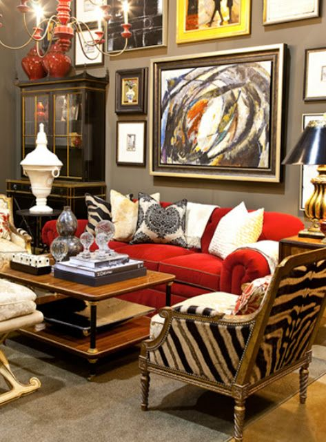 red living rooms home living room living spaces mismatched furniture
