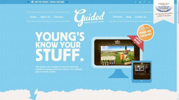 Website Portofolio Terbaik dengan Desain Keren - Guided Creative