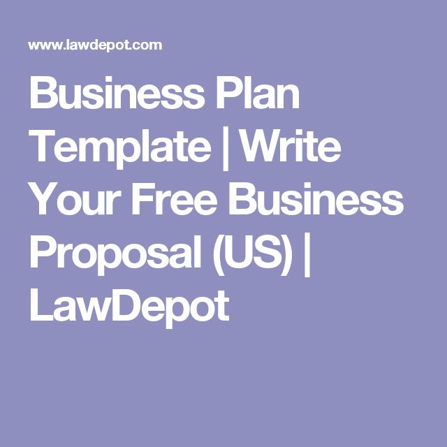 Business Plan Template | Write Your Free Business Proposal (US) | LawDepot