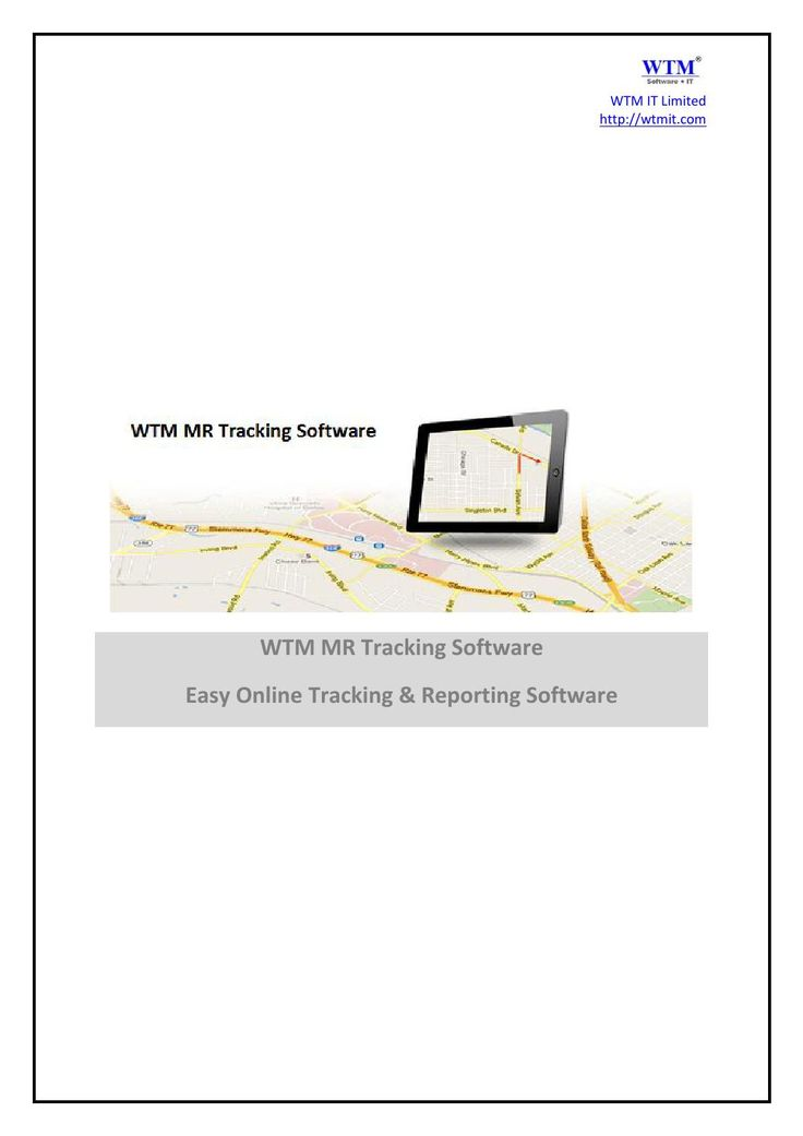 "Wtm Mr Tracking Software  WTM's product, ""Medical Representative Tracking Software"" is Pharmaceutical solution that increases sales force effectiveness transforming into higher sales revenue. It has an enormous impact on your company's top and bottom line. MR Tracking the need for a highly productive sales force is something of an absolute must for your company's success. It has an enormous impact on your company's top and bottom line.  -> A MR Tracking software that provides management ..."