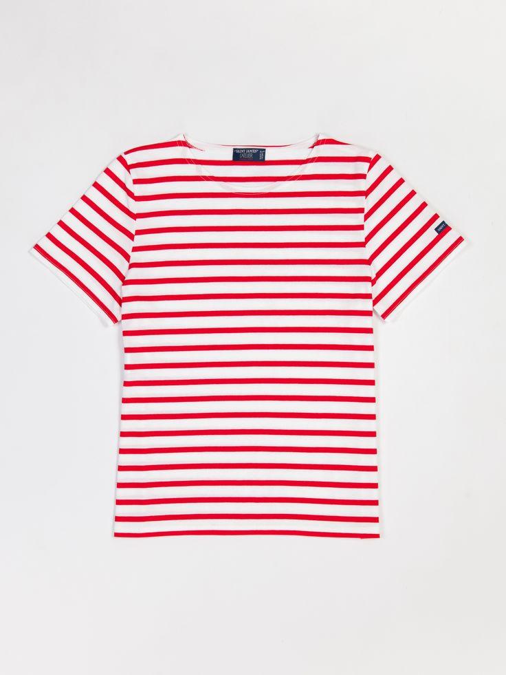 Saint James Etrille Short Sleeve Striped Tee Navy