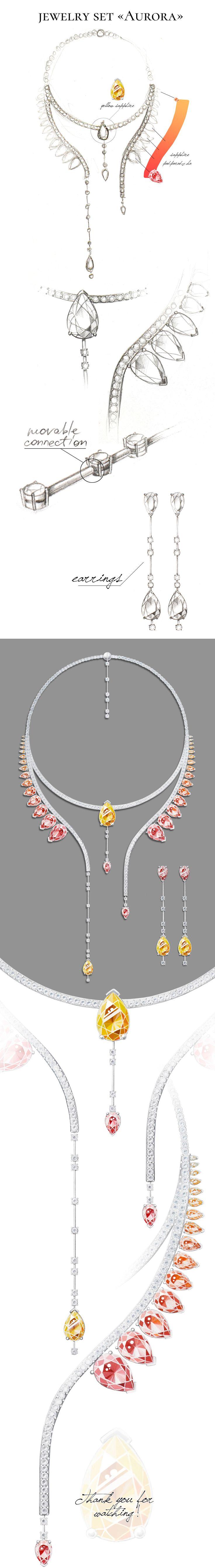 jewelry set «Aurora»-Jewel Design Competition, 2016