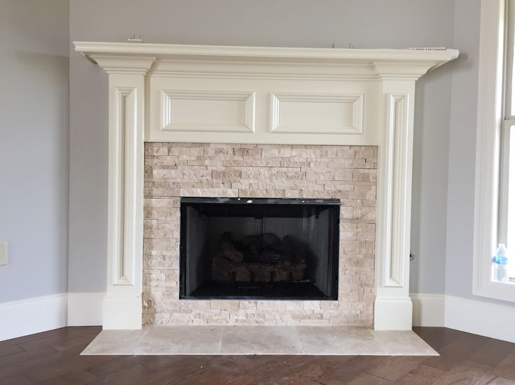 Ivory Stacked Stone Fireplace Tile Pinterest Ivory Stones And Stone Fireplaces
