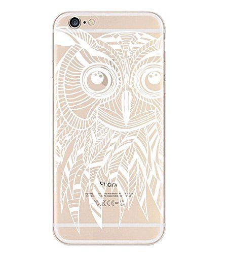 iPhone 5 5S Case, DECO FAIRY® Protective Case Bumper[Scratch-Resistant] [Perfect Fit] Translucent Silicone Clear Case Gel Cover for Apple iPhone 5 5G 5S (White Owl iPhone 5 5G 5S