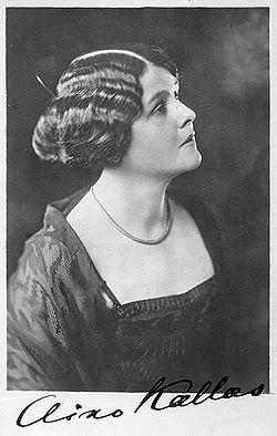 Aino Kallas (b. 2 August 1878) was a prominent Finnish - Estonian author. *** http://en.wikipedia.org/wiki/Aino_Kallas