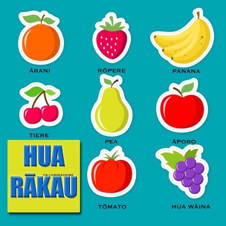 Fruit names in Māori