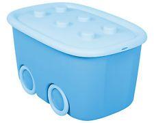 Aufbewahrungsbox Funny Sammelbox Lagerbox Gerätebox Spielzeugbox hellblau NEU !!
