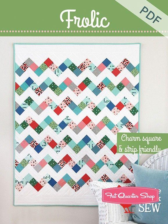 Frolic Downloadable PDF Quilt PatternCluck Cluck Sew - Quilt Patterns   Fat Quarter Shop