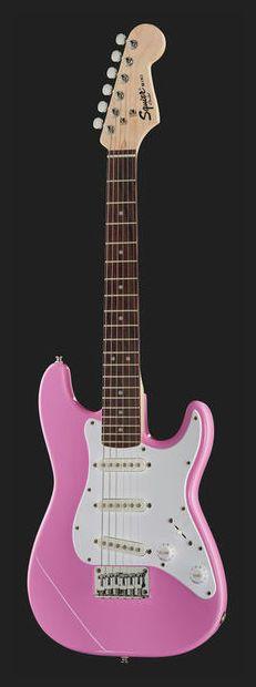 Fender Squier Mini Strat V2 PK - Thomann www.thomann.de - Mini Stratocaster #pink #guitar #mini #strat #fender #sweet #guitarist #instrument #music #girls #amazing