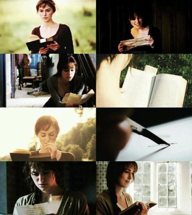 Girl who reads... Keira Knightley, Elizabeth Bennet - Pride & Prejudice (2005) #janeausten #joewright