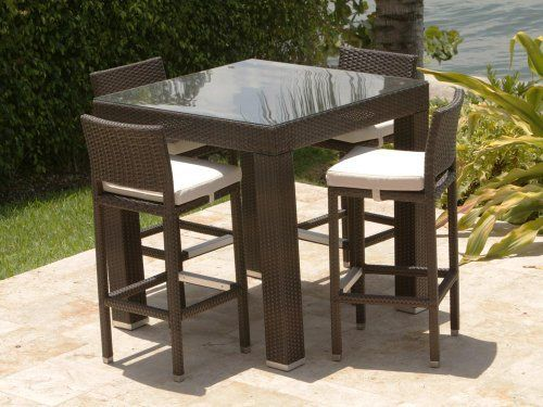 zen armless barstool pictured with the st tropaz bar table source outdoor furniture napa side