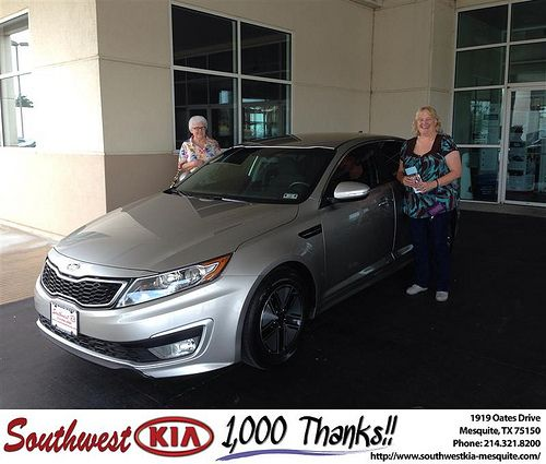 Thank you to Alicia Harris on your new 2012 Kia Optima from Clinton Miller and everyone at Southwest Kia Mesquite!
