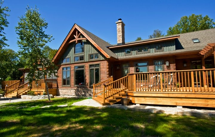 Solid Log and Timber Frame Discovery Dream Home #TimberFrame #Log #Custom #DiscoveryDreamHomes