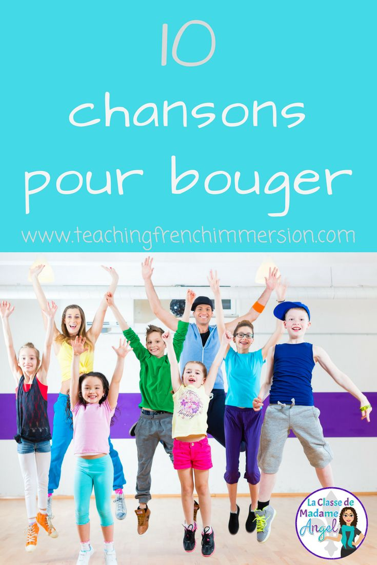 Your French students will have fun singing, dancing and moving with these 10 French songs! 10 chansons pour bouger