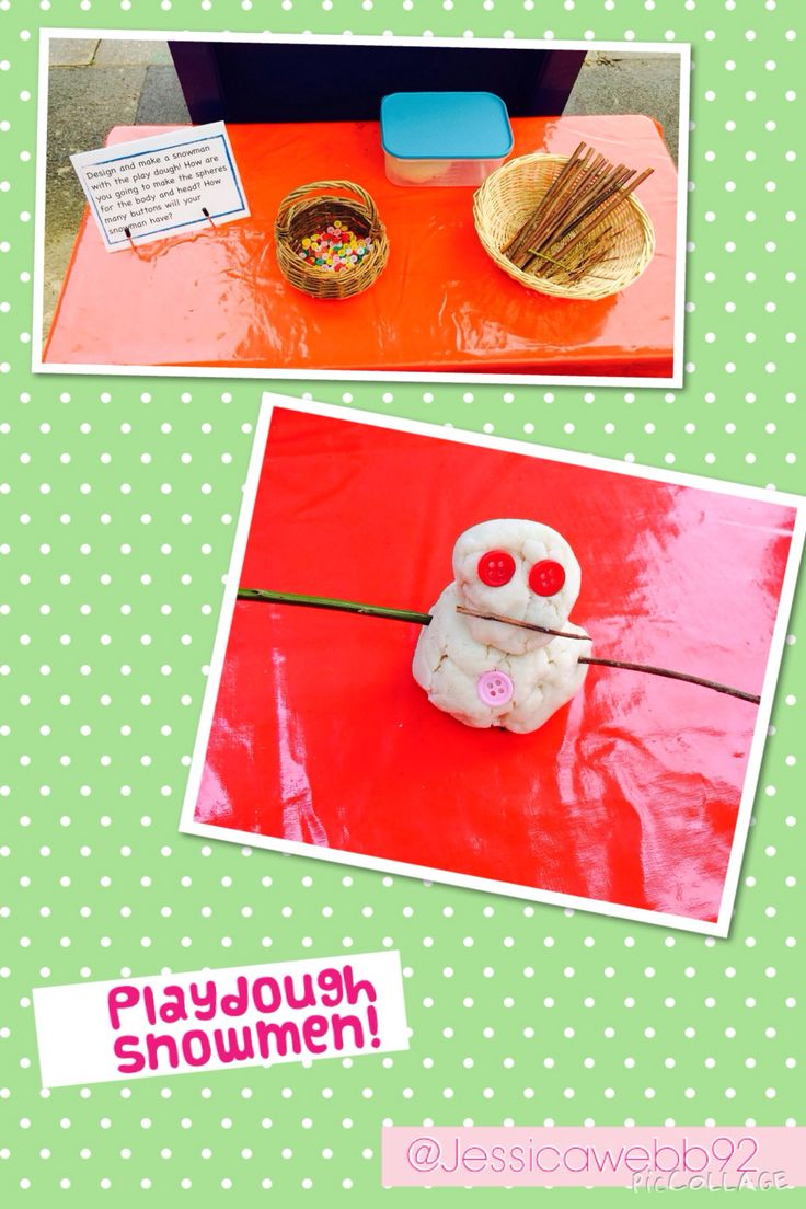 Buttons And Twigs For Making Play Dough Snowmen