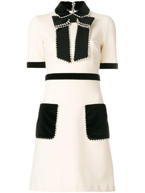 778643c4f0d Shop Gucci short-sleeved embellished dress | spring in 2019 | Gucci ...