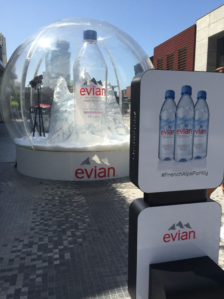 Refreshingly new experiential marketing from Evian