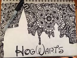 Resultado de imagen para zentangle art harry potter