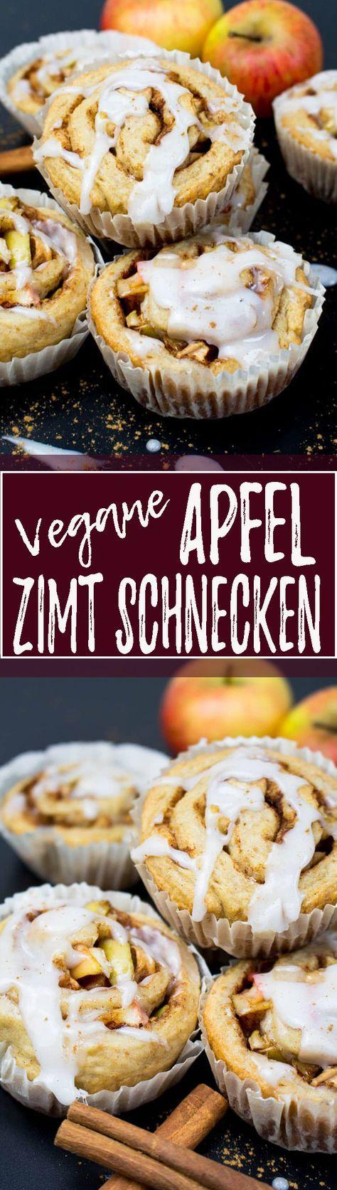 Einfaches und leckeres Rezept für vegane Zimtschnecken mit Apfel, Dinkelmehl und Rohrzucker. Eines meiner liebsten Backrezepte!