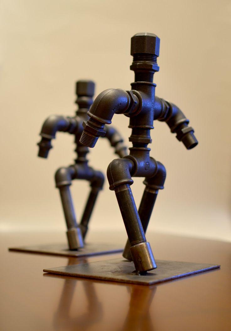 Industrial Art.... My style!!! http://madforcraft.blogspot.gr/2014/12/metal-figure.html