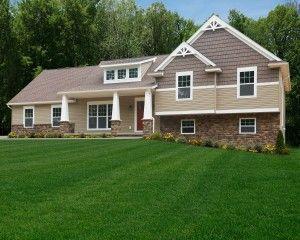 17 best images about split level on pinterest wayne for Craftsman style split level homes