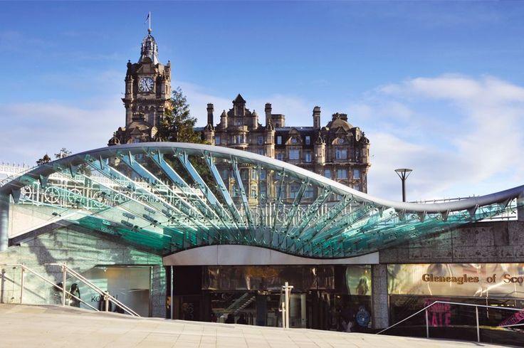 Glass Canopy at Princes Mall in Edinburgh