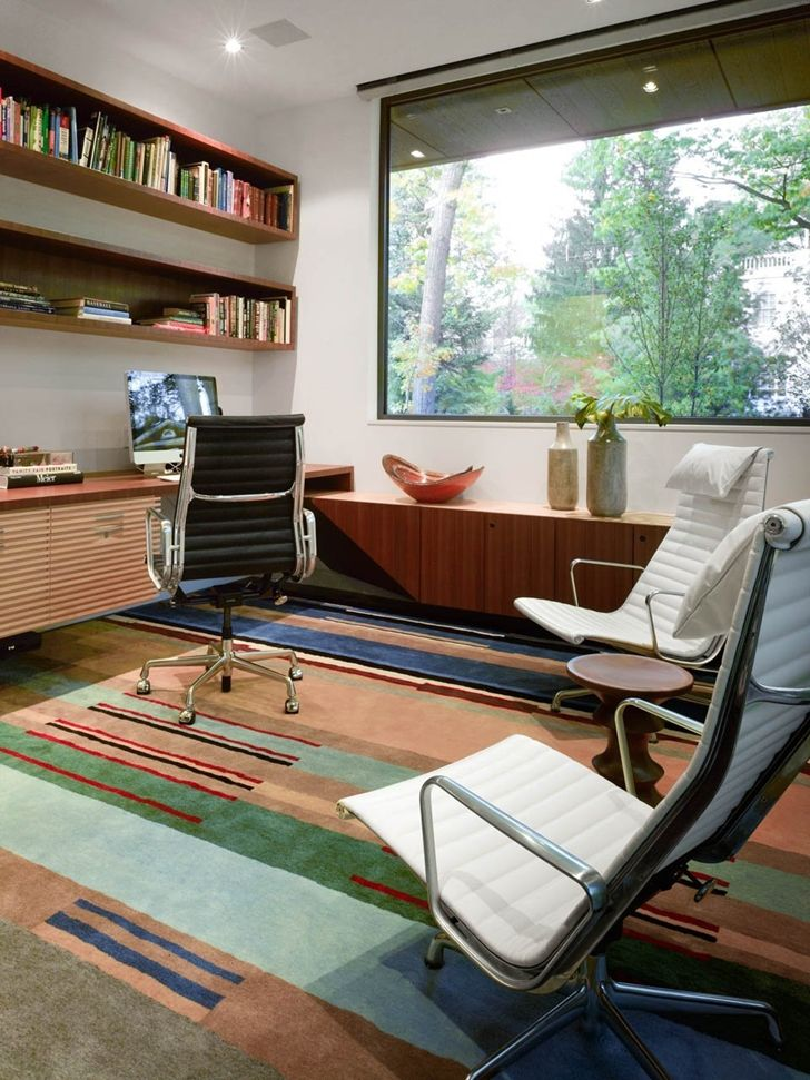 modern home office with wall mounted desk and bookcases modern home office design interior modern home officemodern design home officemodern home architecture home office modern design